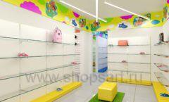 Дизайн детского магазина Емеля Южно-Сахалинск торговое оборудование КАРАМЕЛЬ Дизайн 22