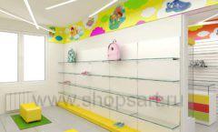 Дизайн детского магазина Емеля Южно-Сахалинск торговое оборудование КАРАМЕЛЬ Дизайн 23