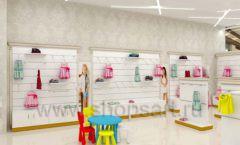 Дизайн детского магазина Minimoda коллекция торгового оборудования ЭЛИТ ГОЛД Дизайн 01