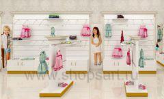 Дизайн детского магазина Minimoda коллекция торгового оборудования ЭЛИТ ГОЛД Дизайн 02
