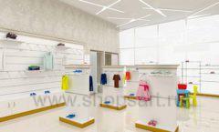Дизайн детского магазина Minimoda коллекция торгового оборудования ЭЛИТ ГОЛД Дизайн 03