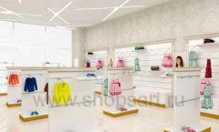 Дизайн детского магазина Minimoda коллекция торгового оборудования ЭЛИТ ГОЛД Дизайн 04