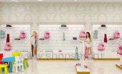 Дизайн детского магазина Minimoda коллекция торгового оборудования ЭЛИТ ГОЛД Дизайн 05