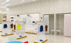 Дизайн детского магазина Minimoda коллекция торгового оборудования ЭЛИТ ГОЛД Дизайн 06