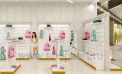 Дизайн детского магазина Minimoda коллекция торгового оборудования ЭЛИТ ГОЛД Дизайн 10