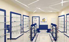 Дизайн магазина детской обуви Котофей Москва торговое оборудование СИНИЙ ВЕТЕР Дизайн 04