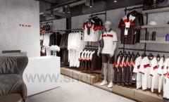 Торговое оборудование бутика спортивной одежды PUTIN TEAM коллекция ЛОФТ Фото 03