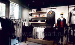 Торговое оборудование бутика спортивной одежды PUTIN TEAM коллекция ЛОФТ Фото 09