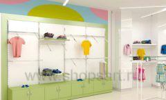 Дизайн интерьера детского магазина Стрекоза коллекция торгового оборудования АКВАРЕЛИ Дизайн 04