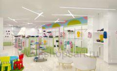Дизайн интерьера детского магазина Стрекоза коллекция торгового оборудования АКВАРЕЛИ Дизайн 06