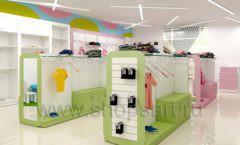 Дизайн интерьера детского магазина Стрекоза коллекция торгового оборудования АКВАРЕЛИ Дизайн 07