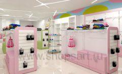 Дизайн интерьера детского магазина Стрекоза коллекция торгового оборудования АКВАРЕЛИ Дизайн 08