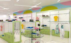 Дизайн интерьера детского магазина Стрекоза коллекция торгового оборудования АКВАРЕЛИ Дизайн 09