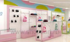 Дизайн интерьера детского магазина Стрекоза коллекция торгового оборудования АКВАРЕЛИ Дизайн 10