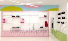 Дизайн интерьера детского магазина Стрекоза коллекция торгового оборудования АКВАРЕЛИ Дизайн 11