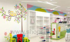 Дизайн интерьера детского магазина Стрекоза коллекция торгового оборудования АКВАРЕЛИ Дизайн 12