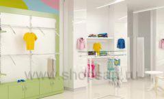 Дизайн интерьера детского магазина Стрекоза коллекция торгового оборудования АКВАРЕЛИ Дизайн 13