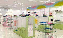 Дизайн интерьера детского магазина Стрекоза коллекция торгового оборудования АКВАРЕЛИ Дизайн 14