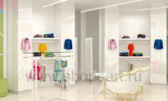 Дизайн интерьера детского магазина Стрекоза коллекция торгового оборудования АКВАРЕЛИ Дизайн 15