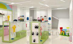 Дизайн интерьера детского магазина Стрекоза коллекция торгового оборудования АКВАРЕЛИ Дизайн 17