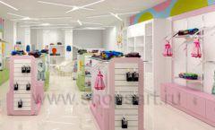 Дизайн интерьера детского магазина Стрекоза коллекция торгового оборудования АКВАРЕЛИ Дизайн 18