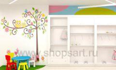 Дизайн интерьера детского магазина Стрекоза коллекция торгового оборудования АКВАРЕЛИ Дизайн 22