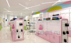 Дизайн интерьера детского магазина Стрекоза коллекция торгового оборудования АКВАРЕЛИ Дизайн 23