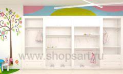 Дизайн интерьера детского магазина Стрекоза коллекция торгового оборудования АКВАРЕЛИ Дизайн 24
