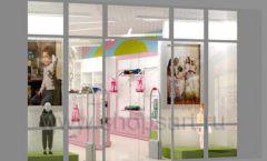 Дизайн интерьера детского магазина Стрекоза коллекция торгового оборудования АКВАРЕЛИ Дизайн 25