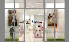 Дизайн интерьера детского магазина Стрекоза коллекция торгового оборудования АКВАРЕЛИ Дизайн 26