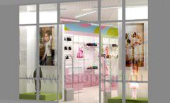 Дизайн интерьера детского магазина Стрекоза коллекция торгового оборудования АКВАРЕЛИ Дизайн 27