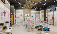 Дизайн детского магазина OLDOS KIDS коллекция торгового оборудования АКВАРЕЛИ Дизайн 01