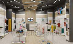 Дизайн детского магазина OLDOS KIDS коллекция торгового оборудования АКВАРЕЛИ Дизайн 02