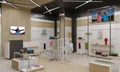 Дизайн детского магазина OLDOS KIDS коллекция торгового оборудования АКВАРЕЛИ Дизайн 03