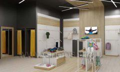 Дизайн детского магазина OLDOS KIDS коллекция торгового оборудования АКВАРЕЛИ Дизайн 04