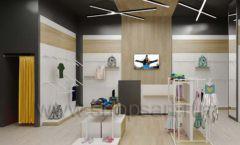 Дизайн детского магазина OLDOS KIDS коллекция торгового оборудования АКВАРЕЛИ Дизайн 05