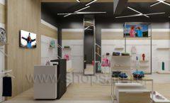 Дизайн детского магазина OLDOS KIDS коллекция торгового оборудования АКВАРЕЛИ Дизайн 06
