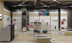 Дизайн детского магазина OLDOS KIDS коллекция торгового оборудования АКВАРЕЛИ Дизайн 07