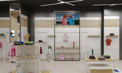 Дизайн детского магазина OLDOS KIDS коллекция торгового оборудования АКВАРЕЛИ Дизайн 08