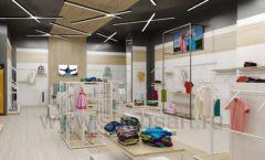 Дизайн детского магазина OLDOS KIDS коллекция торгового оборудования АКВАРЕЛИ Дизайн 10