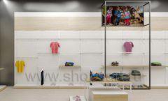 Дизайн детского магазина OLDOS KIDS коллекция торгового оборудования АКВАРЕЛИ Дизайн 11