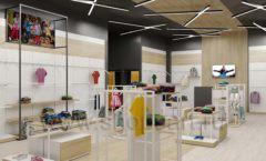 Дизайн детского магазина OLDOS KIDS коллекция торгового оборудования АКВАРЕЛИ Дизайн 12