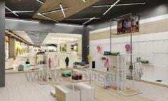 Дизайн детского магазина OLDOS KIDS коллекция торгового оборудования АКВАРЕЛИ Дизайн 13