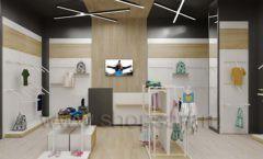 Дизайн детского магазина OLDOS KIDS коллекция торгового оборудования АКВАРЕЛИ Дизайн 14