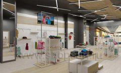 Дизайн детского магазина OLDOS KIDS коллекция торгового оборудования АКВАРЕЛИ Дизайн 16
