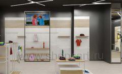 Дизайн детского магазина OLDOS KIDS коллекция торгового оборудования АКВАРЕЛИ Дизайн 17