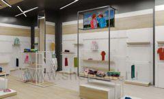 Дизайн детского магазина OLDOS KIDS коллекция торгового оборудования АКВАРЕЛИ Дизайн 18