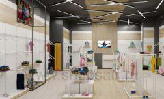 Дизайн детского магазина OLDOS KIDS коллекция торгового оборудования АКВАРЕЛИ Дизайн 19