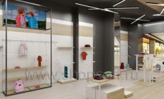 Дизайн детского магазина OLDOS KIDS коллекция торгового оборудования АКВАРЕЛИ Дизайн 21