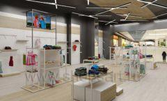 Дизайн детского магазина OLDOS KIDS коллекция торгового оборудования АКВАРЕЛИ Дизайн 22